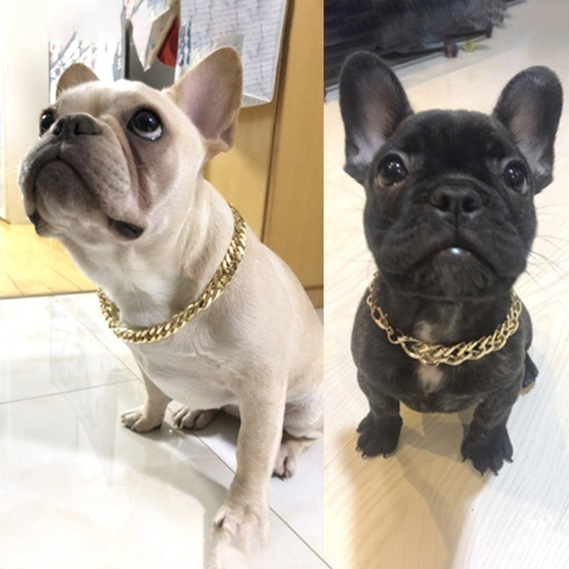 Item Dog Bully Gold Chain Small And Medium Dog Collar Pet Necklace Jewelry