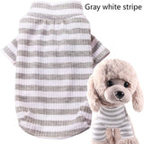 Spring Autumn Pet Dog Clothes Stripe Base Shirt Small Dog Pomeranian Teddy Cat Puppy Clothes
