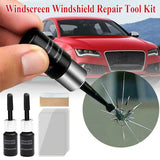 Hot 2 Bottles/Set Automotive Glass Nano Repair Fluid Car Window Glass Crack Chip Repair Tool Kit (With 5 * Cure Strips + 1 * Sleeve Razor )