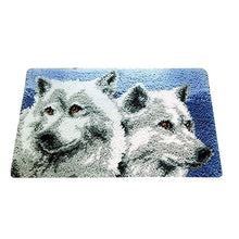 Load image into Gallery viewer, 1Pc Creative 50 x 30cm Unfinished Wolf Latch Hook Rug Embroidery Kit For DIY Carpet Making
