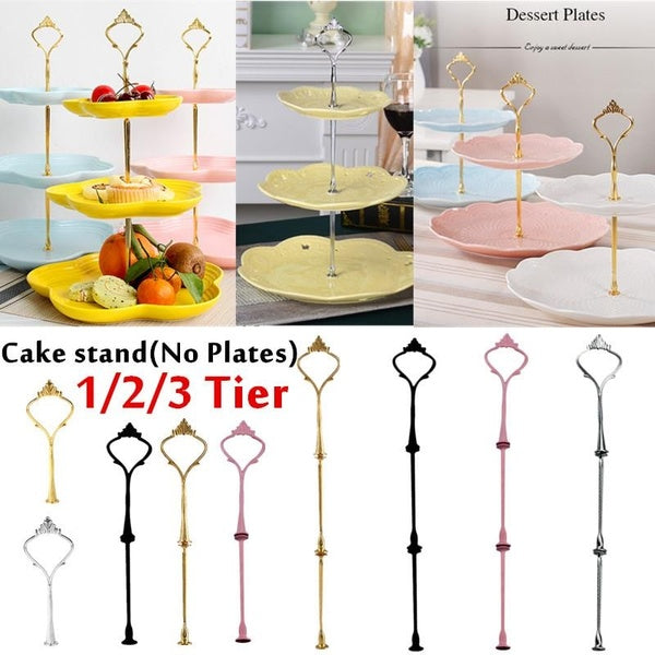 1/2/3 Tier Fruit Cake Plate Stand Centre Handle Fittings Hardware Rod(Not Included Plates)