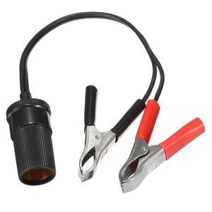 Car Battery Terminal Clip-on Cigarette Lighter Power Socket Adapter 12V