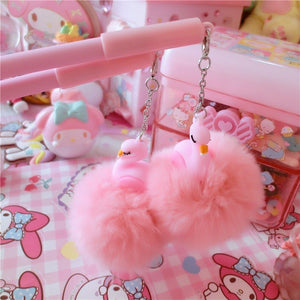 1pc Pink Flamingo Gel Pen Beautiful Plush Swan Pens For School Writing Girl Gifts Kawaii Neutral Pens School Supplies Stationery
