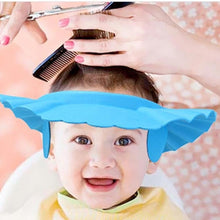Load image into Gallery viewer, Children Shampoo Cap Soft EVA Adjustable Round Wash Head Earmuffs Cap