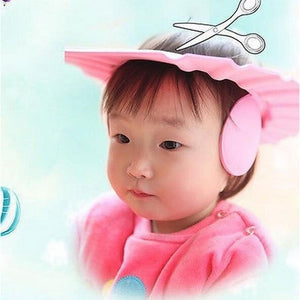 Children Shampoo Cap Soft EVA Adjustable Round Wash Head Earmuffs Cap