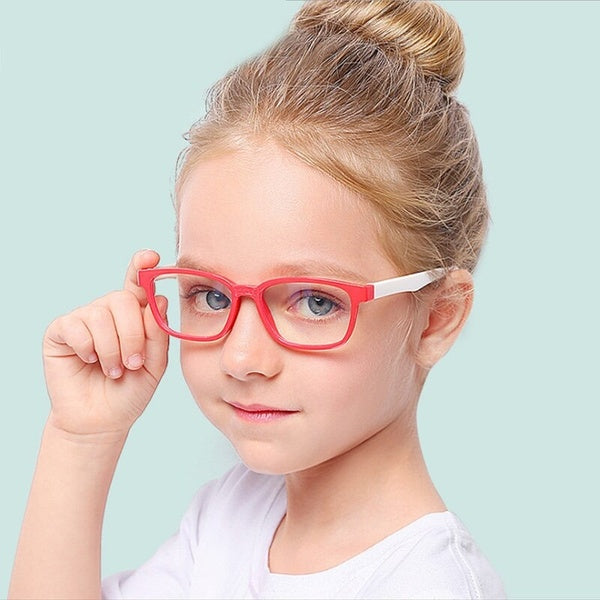 2020 Blue Light Glasses Children Blocking Computer Eyeglasses Kids Girls Transparent TR90 Soft Silicone Frame UV400