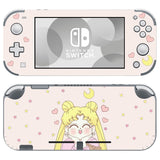 Nintendo Switch Lite Console Vinyl Skins Decals Sticker Covers Wrap Cute Sailor Moon Pink Anime