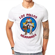 Load image into Gallery viewer, Men Fashion Breaking Bad Shirt LOS POLLOS Hermanos T Shirt Chicken Brothers Tee Hipster Tops