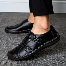 Load image into Gallery viewer, Leather Shoes for Men Casual Handmade Loafers Driving Shoes Leisure Oxfords Business Shoes Plus Size EU38-48