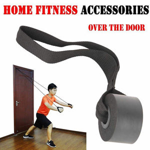 Home Fitness Elastic Exercise Training Strap Resistance Band Over Door Anchor Pull Rope Door Buckle
