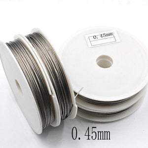1 Roll/lot 0.3/0.35/0.38/0.45/0.5/0.6/0.7/0.8mm Strong Line Stainless Steel Wire Tiger Tail Beading Wire for Jewelry Making Finding