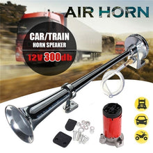 Load image into Gallery viewer, Air Horns For Cars 300DB Super Loud Air Horn Kit Air Horn Compressor Single Trumpet Cars Trains Trucks Boats Horn Auto Accessories