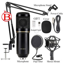 Load image into Gallery viewer, Microfone Bm 800 Studio Microphone Professional Microfone Bm800 Condenser Sound Recording Microphone for Computer