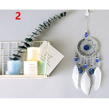 Load image into Gallery viewer, Handmade Dream Catcher Rings Pendant Feathers Wind Chimes Home Wall Hanging Decorations Ornament