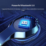 Bluetooth 5.0 Headphone Stereo Earphones Bass Studio Headphones Wireless Bluetooth Headphones for Computer Headset Mobile Phone PC Telephone with Microphone Wireless Bluetooth Headband with Mic Handsfree Call Music Headset
