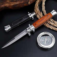 Load image into Gallery viewer, 13 Inch 8.5 Inch Classic Stiletto ITALY Folding Otf Knife Spring Assisted Automatic Knives Camping Hunting Outdoor Pocket Knife