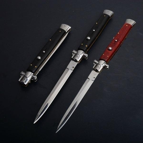 13 Inch 8.5 Inch Classic Stiletto ITALY Folding Otf Knife Spring Assisted Automatic Knives Camping Hunting Outdoor Pocket Knife