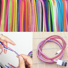 Load image into Gallery viewer, 100/50/10Pcs Spiral Phone USB Data Charging Cable Wire Cord Wrap Protector DIY Winder