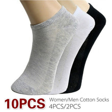 Load image into Gallery viewer, 10pcs /4pcs / 2pcs Breathable Stretch Socks Classic Unisex Comfortable Socks Gifts