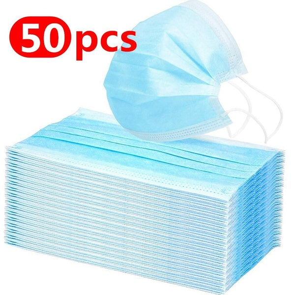 Disposable Sanitary Masks 3-Ply PM2.5 Nonwoven Elastic Mouth Soft Breathable Face Mask Masque         Protect Yourself Against Dust Pollen Allergens