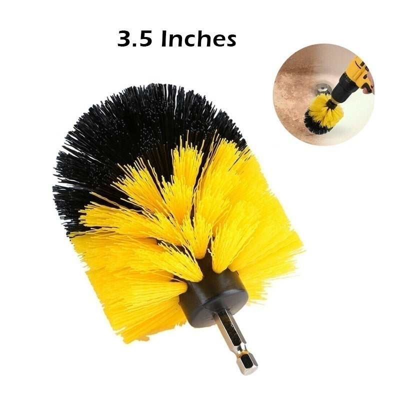 2-4 Inch Yellow Electric Drill Cleaning Brush Electric Brush Home Cleaning Tool Grout Tile Tire Cleaning Brush