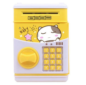 Cute Simulation of ATM Password Boxes Mini Safe Paper Money Piggy Bank Money Pot