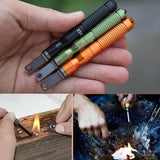 Military grade waterproof outdoor Flint fire stick equipment lifesaving tools practical