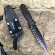 Load image into Gallery viewer, Benchmade 133 Infidel Fixed Blade - 4.52' Double Edge D2 Tool Steel Satin Finish Blade - Black Nylon glass fiber Handle - Boltaron Sheath Suitable for outdoor camping and hunting tools