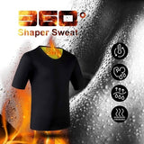 Weight-Loss Neoprene Detox Hot Workout Body Shapers T-Shirt Men Sweat More Fat Burning Waist Trainer Workout Body Shaper le formateur s¨¦ance corps shaper