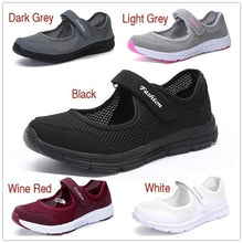 Load image into Gallery viewer, Women Tennis Shoes Slip on Walking Shoes Lightweight Sneakers Casual  Shoes Mesh Shoes Comfortable Flats Shoes