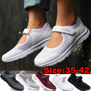 Women Tennis Shoes Slip on Walking Shoes Lightweight Sneakers Casual  Shoes Mesh Shoes Comfortable Flats Shoes