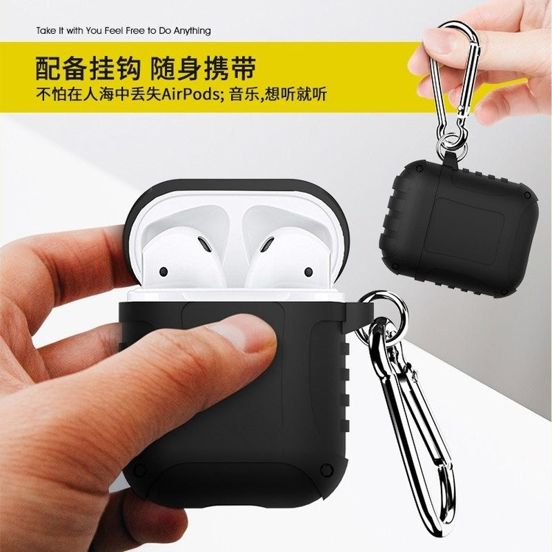 Airpods Case with Hook for Apple Bluetooth 5th Generation Headphone Silicone Case