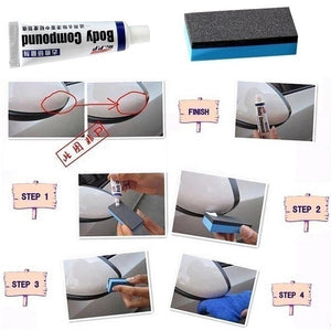 Simple Car Repair Car Body Compound Paste Set Scratch De-mark Abrasive Paint Care Auto Polishing Grinding Car Paste Polish Care Car Accessories