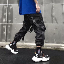 将图片加载到图库查看器,Overalls Men's Tide Brand Multi-pocket Dark Functional Pants Paratrooper Pants Hip-hop Weaving Loose Loose Pants Pants Street Tide Brand Hip-hop Sports Cargo Overalls