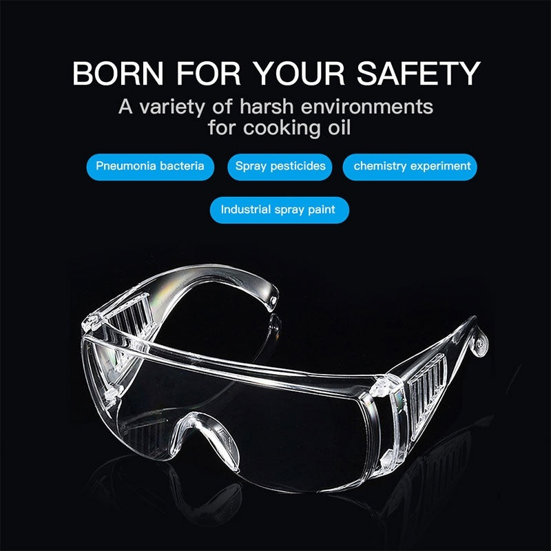 1PC/5Pcs Motorcycle Transparent Goggles Anti Fog Dust Proof Eye Protection Goggles Safety Goggles