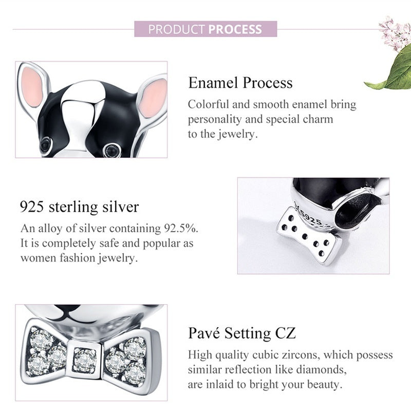 2020 Latest Fashion DIY Creative Jewelry Making 925 Sterling Silver Charm Bracelet Heart & Animals Pendant Fit Necklace16 Style Beads for Women