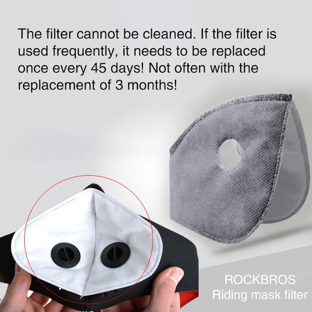 1/5/10pcs Breathable Outdoor Accessories 5 layers Anti-dust Tool Motorcycle Bicycle Cycling Smog Mask Filter Activated Carbon Masks