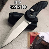 Pocket Spring Assisted OTF Knife Outdoor Survival Rescue KNIVES MINI Practical Camping Portable EDC Tools Tactical Fast Open Knives WITH/HARD SHEATH