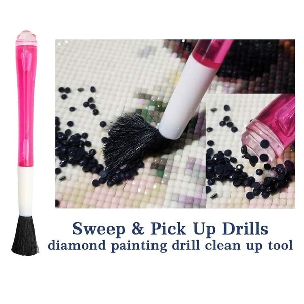 1Pc Diamond Painting Drill Clean-up Tool Sweep for Full Drill & Partial Drill Painting Also Use for Nails Art Drill Diamond Tool