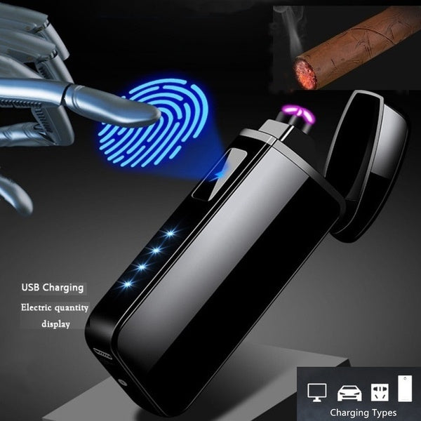 USB Electronic Dual Arc Rechargeable Cigarette Lighter