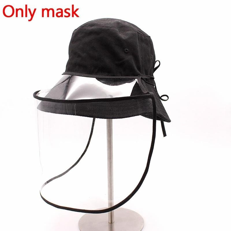 Protective Face Mask Hat Cap Cover Anti-Spitting Splash Hat Windshield Cover
