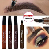 NEW Microblading Eyebrow Pen Waterproof Fork Tip Eyebrow Tattoo Pencil Long Lasting Professional Fine Sketch Liquid Eye Brow Pencil