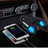 USB Car Charger 3.1A Car Cigarette Lighter Socket Splitter Plug LED Car Charger Adapter for IPhone XR XS 11 Pro Samsung S10 S9