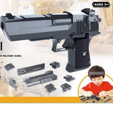 2019 NEW Kids Toygun DIY Manual Rifle Toy Gun Blaster Bb Guns Gel Ball Creative DIY Building Blocks Toy Gun Desert Eagle