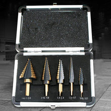 Load image into Gallery viewer, 5 Pcs/Box Hss Cobalt Multiple Hole 50 Sizes Step Drill Bit Set Tools
