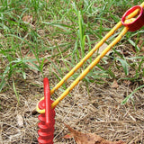 5/10/15Pcs Nylon Plastic Screw Spiral Tent Peg Stakes Nail Outdoor Hiking Camping Awning Trip Kit Tent Canopy Accessorie