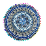 Indian Mandala Floor Pillows Round Bohemian Cushion Cushions Pillows Cover Case