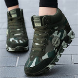 New Outdoor Camouflage Shoes Women's Shoes Sports Shoes Ladies Army Green Large Size Travel Shoes Casual Shoes