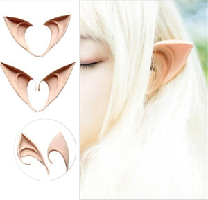 2Pcs/Lot Cosplay Accessories Halloween Party Latex Soft Pointed Prosthetic Tips Ear