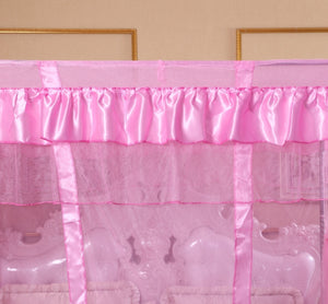 Black white pink gray purple coffee Four Corner Curtain Bed Canopy  Mosquito net For Twin Full Queen King Size(No Bed Canopy Frame)